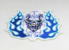 Patch  skull flammes  , us  ,biker,écusson,custom ,déco,