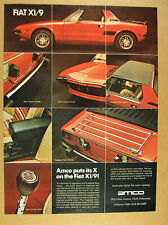 1974 Fiat X 1/9 X1/9 red car photo Amco Accessories sport shifter guards rack