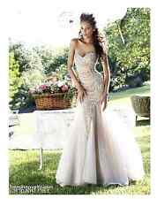 SHERRI HILL EMBELLISHED BODICE STRAPLESS  NUDE/SILVER GOWN DRESS sz 6