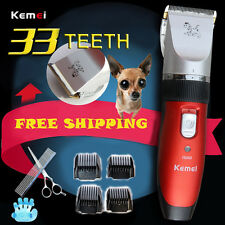 Pet DOG Electric Rechargeable 110-240V Hair Grooming Ceramic Trimmer For Animal