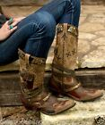 DD9004ADouble D Ranch Lane Frontier Trapper Western Leather Cowgirl Boots