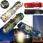 Focus Zoomable CREE Q5 LED Flashlight Torch Lamp Outdoor 3-Mode Bright Light Lot