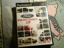 FORD RACING 3  III THREE RACE GAME BOOK CASE PLAYSTATION 2 PS2 COMPLETE