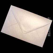 100 x C6 A6 Oyster White Shimmer Pearlescent Wedding Invitation Envelopes