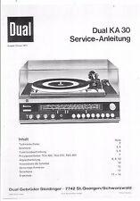 Dual Service Manual für KA 30