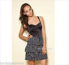 Motel Agnes Dress Stripe Striped Black White Motel Rocks New S / UK 10