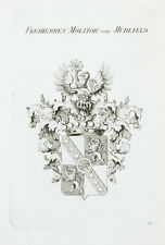 1870 Wappen Molitor von Mühlfeld Kupferstich Tyroff