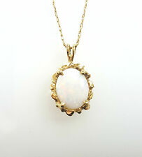 """14K Yellow Gold 20""""Opal Pendant Necklace"""