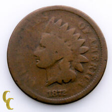 1872 Indian Head Cent 1C Penny (About Good, AG Condition) All Brown Color!