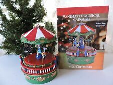 Mr. Christmas 2016 Mini Carnival Animated Music Box Carousel Jingle Bells NIB