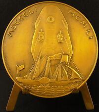 Medaille Compagnie des messageries maritimes 1951 Licorne et bateau ship medal