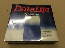 "VERBATIM MD 577-01 5.25"" 5 1/4 DISCHI FLOPPY DISC 10 Pack-Old Style"