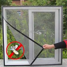 Fly Insect Mosquitos Bug Door Window DIY Net Mesh Protect Screen Sticky Velcro