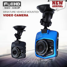 "Car Dash Cam 1080P Full HD DVR 2.4"" GT300 G-sensor Video Camera Recorder - Black"
