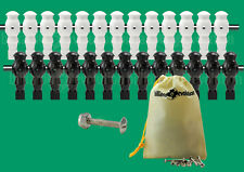 "13 Black/13 White Robotic Style Foosball Men for a 5/8"" Rod + 26 Screws/Nuts"