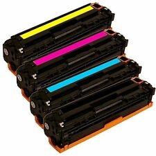 4 pk Generic Toner for 125A CB540A CB541A CB542A CB543A CM1312 CP1215 CP1515