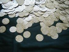 600 X-LARGE..Belly Dance costume Hip Scarf Coins SILVER & GOLD Real Brass Coins