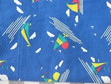 Charming vintage curtain panel for cutter fabric material use boat chic blue fun