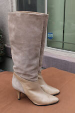 Paloma Suede TALL Boots Made in Italy BEIGE VINTAGE Size 8