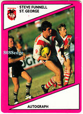 1988 SCANLENS RUGBY LEAGUE #77 OF 144: STEVE FUNNELL - ST. GEORGE DRAGONS (B)
