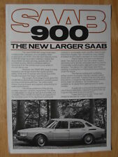 SAAB 900 gamma 1979 UK MKT Opuscolo Vendite-Include Turbo