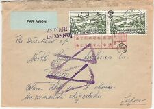 Luxembourg 1974 RETOUR INCONNU air mail cover to Japan