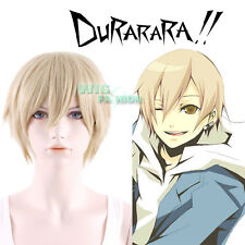 DURARARA!! Masaomi Kida Short Straight Blonde Heat Resistant Anime Cosplay Wig