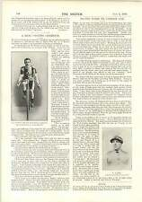 1895 Aj Watson Cycling Champion C Fontaine 24 Hours Record holder