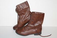 Trash Lace Ankle Boots, #130091, Brown, Man made, Womens US Size 6