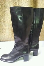 VIA SPIGA boots (made in Italy) Black leather size 8