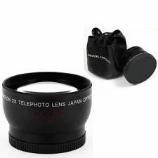58mm 2x Magnification Teleconverter Telephoto Lens for Canon Nikon DSLR Camera