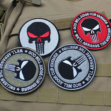 4 PC GOD WILL JUDGE OUR ENEMIES PUNISHER INFIDEL MORALE HOOK LOOP VELCRO PATCHES