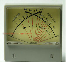 SWR Meter Panel Dual SWR Forwad 0-10W / Reflected 0-2W VU Meter 100uA