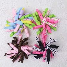 "4 present cute 3"" Baby Girl Grosgrain Ribbon Korker Hair bows with clips 2795-L"
