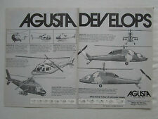 4/1981 PUB AGUSTA 101 G 105 106 129 109 CIVIL MILITARY HELICOPTER ORIGINAL AD
