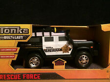 Tonka Rescue Force Lights and Sounds Sheriff Search & Rescue Unit Jeep - NEW