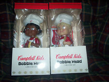 CAMPBELL SOUP nodder bobble head CAMPBELL KIDS set of 2 NEW IN ORIGINAL BOXES