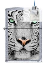 Zippo 0245 white tiger face Lighter & Z-PLUS INSERT BUNDLE