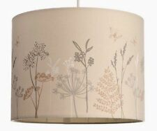 Retro Neutral Floral Leaf Butterfly Drum Lamp/Ceiling Light Shade Pendant NEW