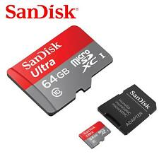 SanDisk 64GB Ultra 80MB/s MicroSD SDXC Micro SD Memory Card + Adapter + VAT Bill