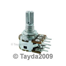500K OHM Linear Dual Taper Rotary Potentiometers B500K 500KB POT ALPHA