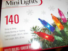 CHRISTMAS MINI LIGHTS 140 MULTI-COLORS 28.5 FT. LENGTH IN/OUTDOOR NWT STRING LIG