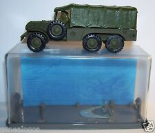 MILITARY 1960 DODGE TORPEDO 6X6 TRANSPORT TROUPES FRANCE JOUETS FJ REF 403 BOX