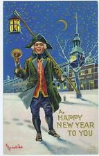 Happy New Year to You, Young man, triangle hat bell and lantern #35