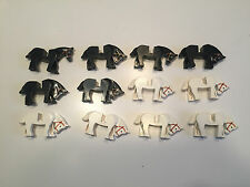 Huge Lot of 12 Lego Horses minifigs White Animal Army Castle minifig A255