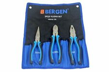 "BERGEN 3pc 8"" PLIERS SET SATIN NI-FE FINISH B1756"