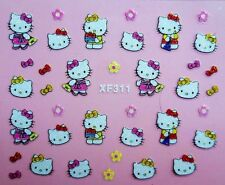Hello kitty self-adhesive 3D Glitter Nail Sticker Decoration Decal XF311