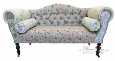 Gorgeous Quirky Patchwork Floral Double Ended Chaise Sofa  **UK Made**