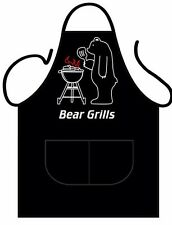 Bear Grills Novelty Apron - BBQ Summer - Gift