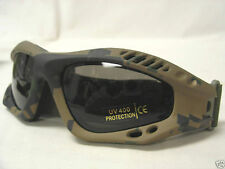 Fox Outdoor Mojave Eye Goggles Digital Woodland Camo Military Tactical UV400 NEW